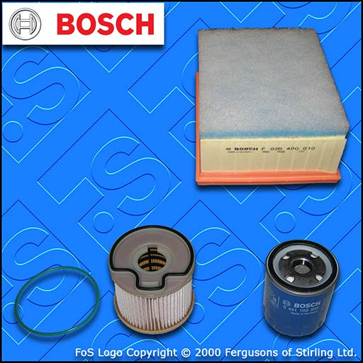 SERVICE KIT for CITROEN XSARA 2.0 HDI OIL AIR FUEL FILTERS BOSCH (2000-2001)