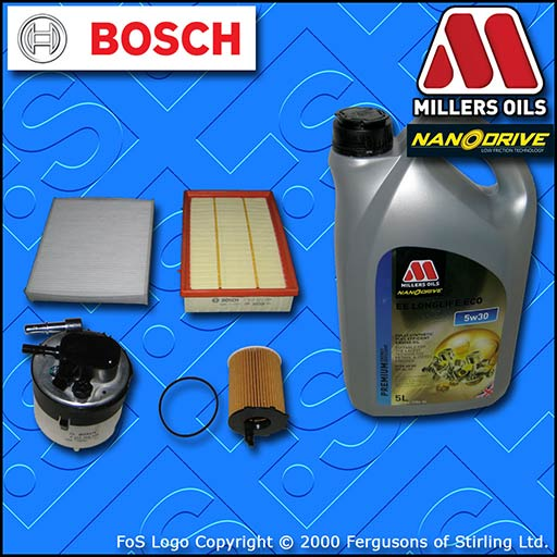 SERVICE KIT FORD FOCUS C-MAX 1.6 TDCI OIL AIR FUEL CABIN FILTER +OIL (2005-2007)