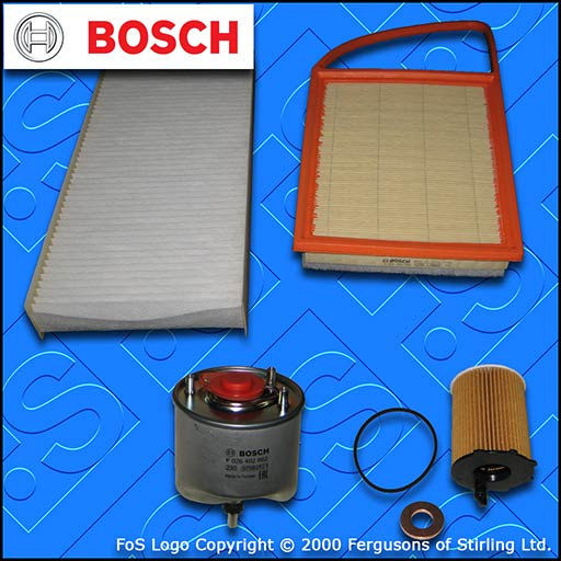 SERVICE KIT for TOYOTA PROACE 1.6 D BOSCH OIL AIR FUEL CABIN FILTERS (2013-2016)