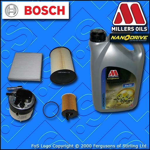 SERVICE KIT for FORD FOCUS MK2 1.6 TDCI OIL AIR FUEL CABIN FILTER +OIL 2007-2012