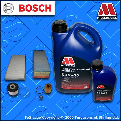 SERVICE KIT CITROEN DISPATCH 2.0 HDI DW10C OIL AIR FUEL CABIN FILTERS +OIL 10-17