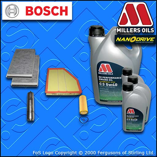SERVICE KIT BMW 6 SERIES 635D E63 E64 OIL AIR FUEL CABIN FILTER +OIL (2007-2010)