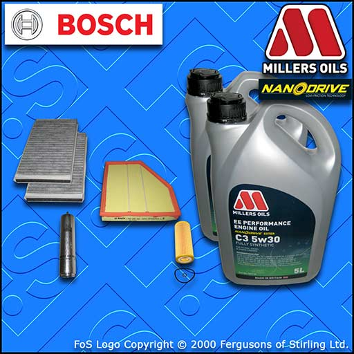 SERVICE KIT BMW 5 SERIES 535D E60 E61 OIL AIR FUEL CABIN FILTER +OIL (2004-2010)