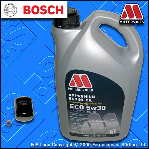 SERVICE KIT NISSAN 350Z 3.5 V6 24V VQ35DE BOSCH OIL FILTER +ECO OIL (2002-2008)