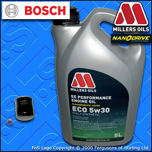 SERVICE KIT NISSAN 350Z 3.5 V6 24V VQ35DE BOSCH OIL FILTER +EE ECO OIL 2002-2008
