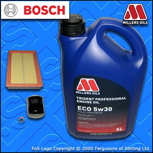 SERVICE KIT NISSAN 350Z 3.5 V6 24V VQ35DE BOSCH OIL AIR FILTERS +OIL (2002-2008)