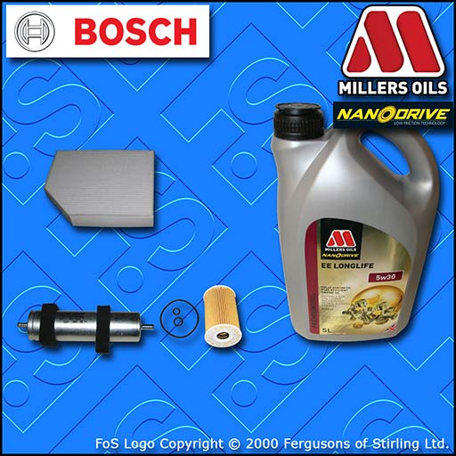 SERVICE KIT AUDI A5 (8F/8T) 2.0 TDI CGL CJC CMF OIL FUEL CABIN FILTER +OIL 11-16