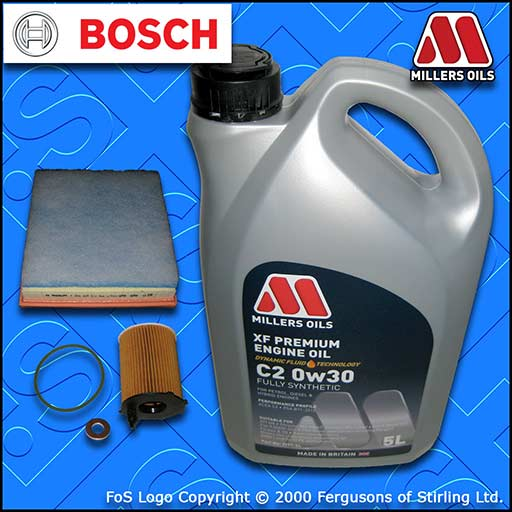 SERVICE KIT for DS DS4 1.6 BLUEHDI OIL AIR FILTERS +C2 0w30 OIL (2015-2019)