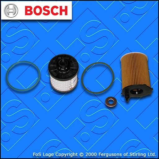 SERVICE KIT for PEUGEOT 301 1.6 BLUEHDI OIL FUEL FILTERS (2014-2019)