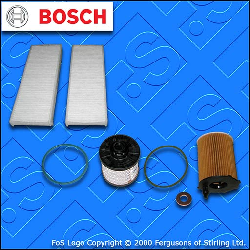 SERVICE KIT for PEUGEOT 301 1.6 BLUEHDI OIL FUEL CABIN FILTERS (2014-2019)