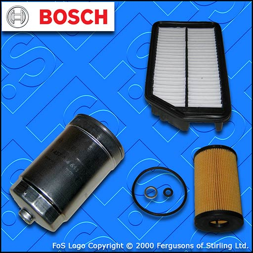 SERVICE KIT for KIA CEE'D (JD) 1.4 1.6 CRDI BOSCH OIL AIR FUEL FILTERS 2012-2018