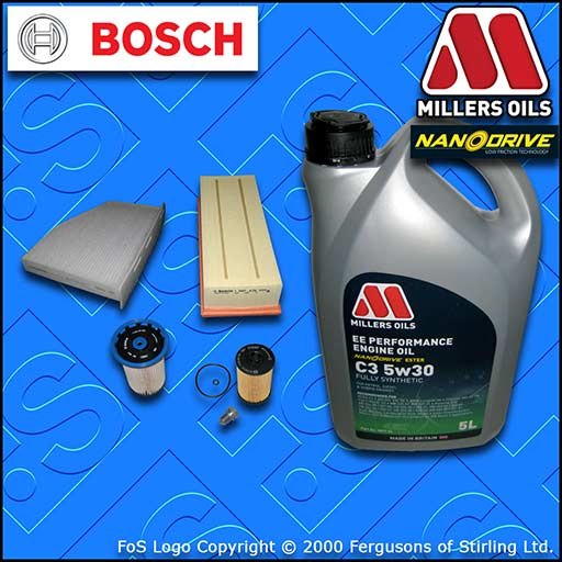 SERVICE KIT AUDI Q3 (8U) 2.0 TDI CU* CY* D* OIL AIR FUEL CABIN FILTER +OIL 14-18