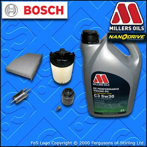 SERVICE KIT SKODA OCTAVIA II 1.2 TSI CBZB OIL AIR FUEL CABIN FILTER +OIL (10-10)