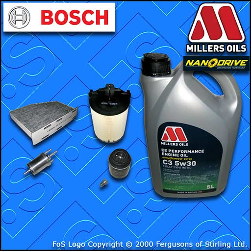 SERVICE KIT SKODA OCTAVIA II 1.2 TSI CBZB OIL AIR FUEL CABIN FILTER +OIL (10-13)