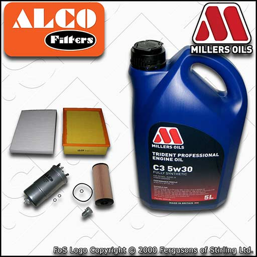 SERVICE KIT AUDI A4 B6 1.9 TDI AVB AVF AWX BKE BRB OIL AIR FUEL CABIN FILTER+OIL