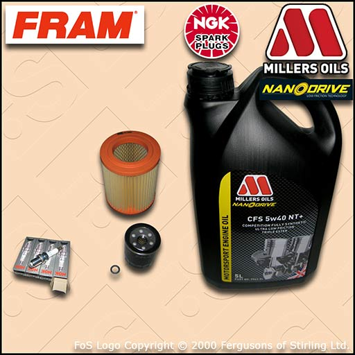HONDA CIVIC TYPE-R EP3 OIL AIR FILTER PLUGS MILLERS CFS 5w40 NT+ OIL SERVICE KIT