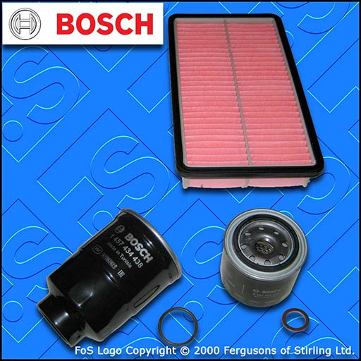 SERVICE KIT for MAZDA 6 (GH) 2.0 D DIESEL BOSCH OIL AIR FUEL FILTERS (2007-2010)