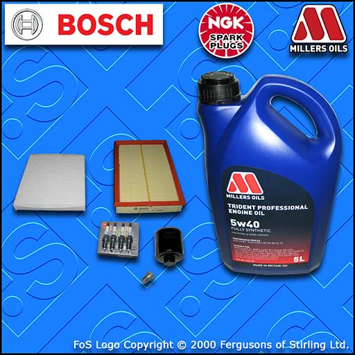 SERVICE KIT SEAT CORDOBA 6L 1.4 16V BBY BKY OIL AIR CABIN FILTER PLUGS+OIL 02-07
