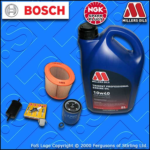 SERVICE KIT for PEUGEOT 106 1.4 OIL AIR FUEL FILTER PLUGS+10w40 SS OIL 1996-2000