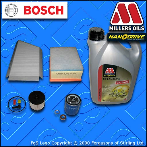 SERVICE KIT PEUGEOT 206 2.0 HDI OIL AIR FUEL CABIN FILTER TECAFILTRES+OIL 02-07