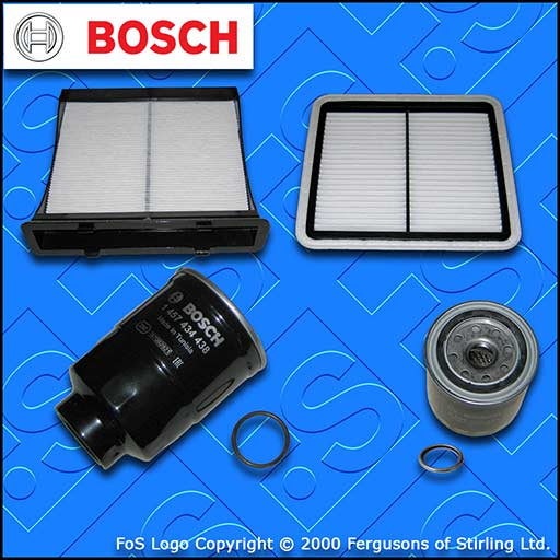SERVICE KIT for SUBARU FORESTER 2.0 D BOSCH OIL AIR FUEL CABIN FILTERS 2008-2013