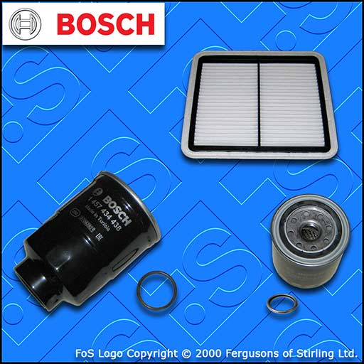 SERVICE KIT for SUBARU FORESTER 2.0 D BOSCH OIL AIR FUEL FILTERS (2008-2013)