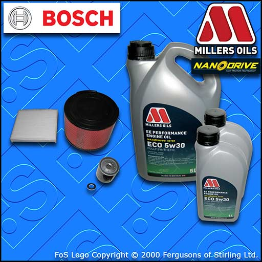 SERVICE KIT TOYOTA HILUX 2.5/3.0 D-4D -DPF OIL AIR CABIN FILTER +OIL (2004-2015)