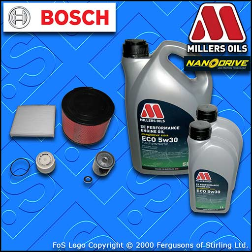 SERVICE KIT TOYOTA HILUX 2.5/3.0 D-4D -DPF OIL AIR FUEL CABIN FILTERS +OIL 04-15