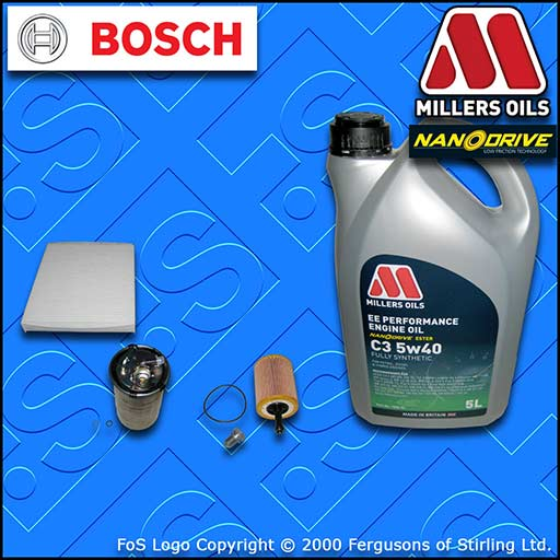 SERVICE KIT SEAT CORDOBA (6L) 1.4 TDI AMF OIL FUEL CABIN FILTER +OIL (2002-2005)