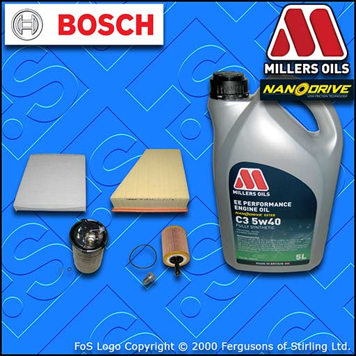 SERVICE KIT SEAT IBIZA (6L) 1.4 TDI BNM OIL AIR FUEL CABIN FILTER +OIL 2005-2009