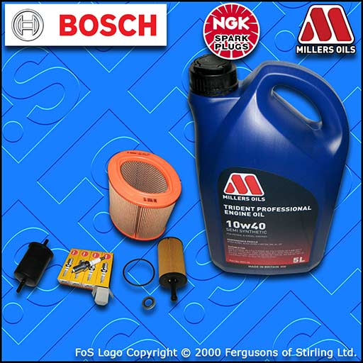 SERVICE KIT for PEUGEOT 106 1.1 OIL AIR FUEL FILTER PLUGS+10w40 SS OIL 2000-2004