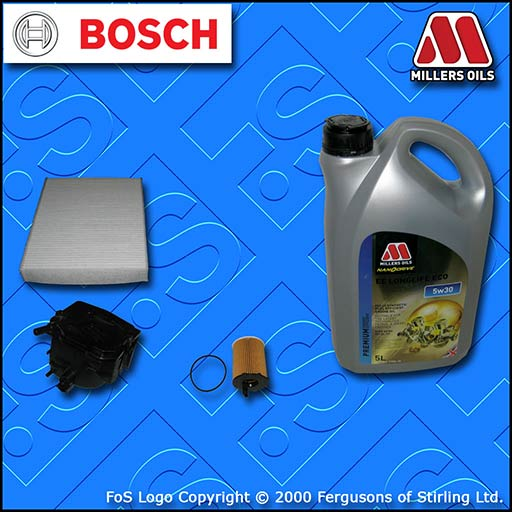 SERVICE KIT for FORD FUSION (B226) 1.6 TDCI OIL FUEL CABIN FILTER +OIL 2004-2012