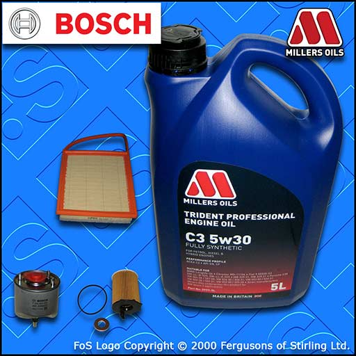 SERVICE KIT for MITSUBISHI ASX 1.6 DI-D OIL AIR FUEL FILTERS +5L OIL (2015-2018)