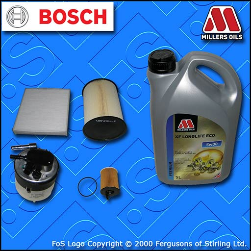SERVICE KIT VOLVO S40 II 1.6 D DIESEL OIL AIR FUEL CABIN FILTER +OIL (2007-2012)