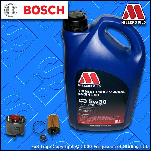 SERVICE KIT for MITSUBISHI ASX 1.6 DI-D OIL FUEL FILTER +5L 5w30 OIL (2015-2018)