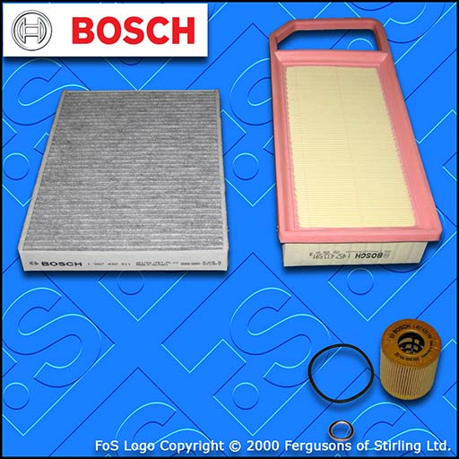 SERVICE KIT for PEUGEOT 407 1.8 2.0 BOSCH OIL AIR CABIN FILTERS (2008-2010)