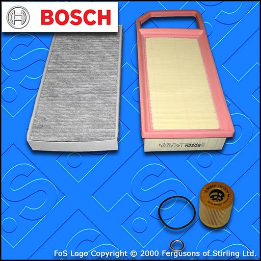 SERVICE KIT for PEUGEOT 407 1.8 2.0 BOSCH OIL AIR CABIN FILTERS (2005-2008)