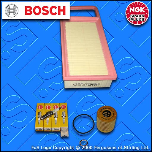 SERVICE KIT for PEUGEOT 407 1.8 2.0 BOSCH OIL AIR FILTERS NGK PLUGS (2005-2010)