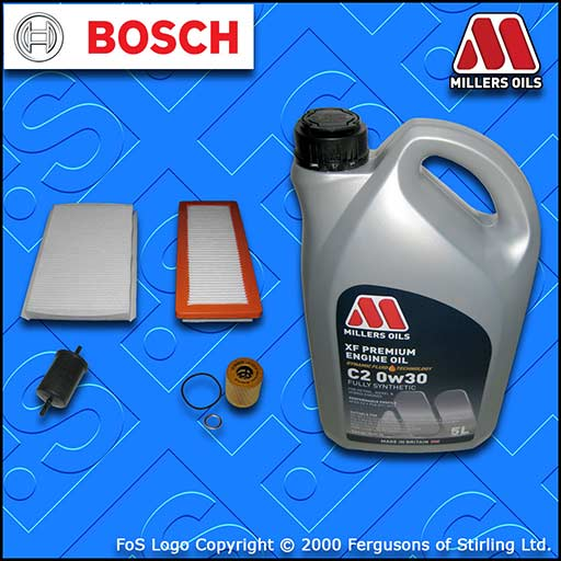 SERVICE KIT DS DS4 1.6 THP 165 210 OIL AIR FUEL CABIN FILTER +C2 OIL (2015-2019)