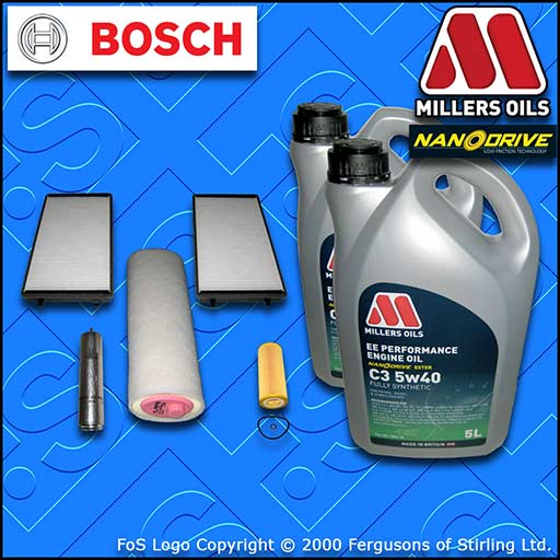 SERVICE KIT BMW 7 SERIES 730D 730LD E65 E66 OIL AIR FUEL CABIN FILTER +OIL 02-08