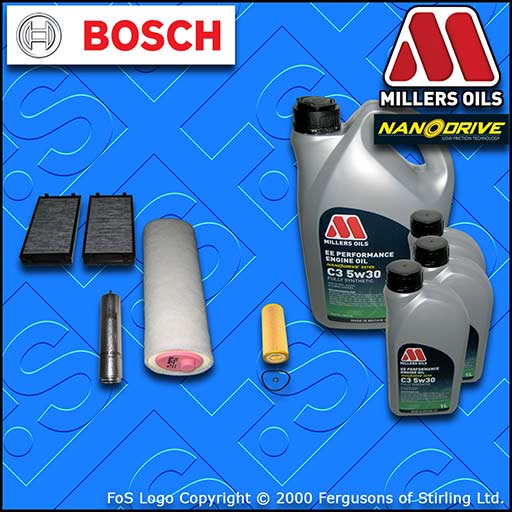 SERVICE KIT for BMW X5 E70 3.0 D E70 M57 OIL AIR FUEL CABIN FILTER+OIL 2007-2010