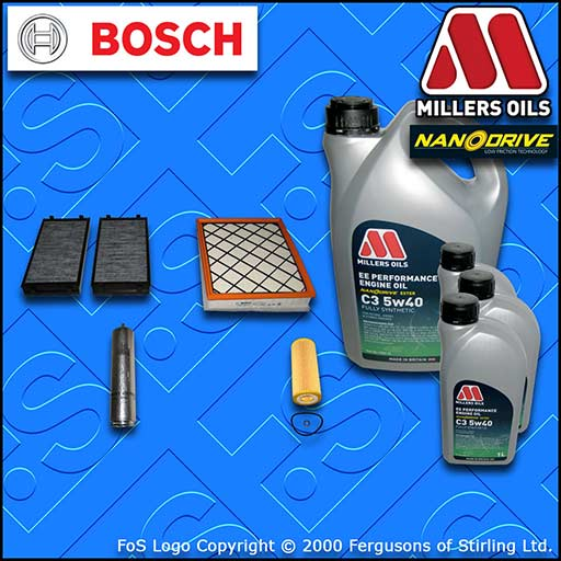 SERVICE KIT for BMW X6 XDRIVE 35D E71 OIL AIR FUEL CABIN FILTER +OIL (2008-2010)