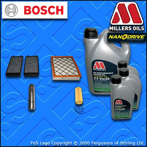 SERVICE KIT for BMW X5 E70 3.0 SD E70 M57 OIL AIR FUEL CABIN FILTER +OIL (07-13)