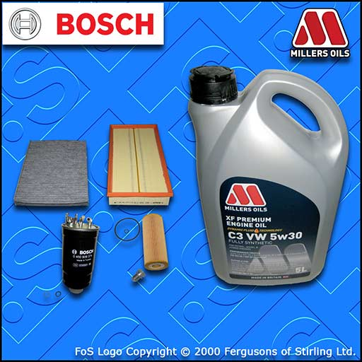SERVICE KIT VW BORA (1J) 1.9 TDI SDI OIL AIR FUEL CABIN FILTERS +OIL (1998-2005)
