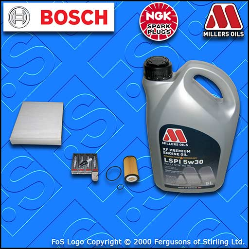 SERVICE KIT VAUXHALL MERIVA B MK2 1.4 TURBO OIL CABIN FILTER PLUGS+OIL 2010-2012
