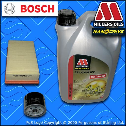 SERVICE KIT for NISSAN MICRA K12 1.5 DCI OIL AIR FILTER +5w30 EE OIL (2007-2010)