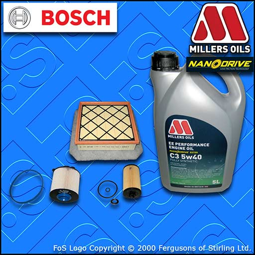 SERVICE KIT VAUXHALL MERIVA B MK2 1.6 CDTI OIL AIR FUEL FILTERS +OIL (2013-2017)