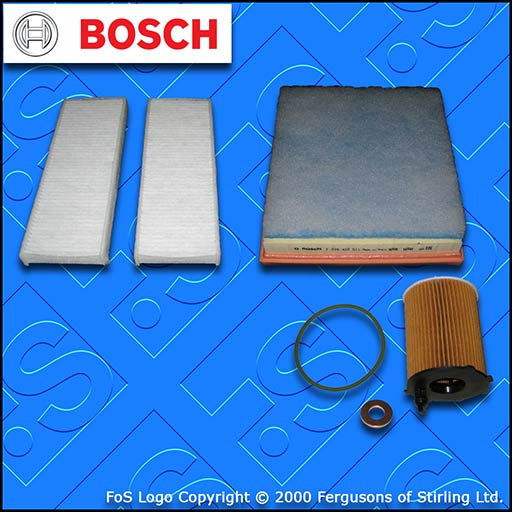 SERVICE KIT for PEUGEOT 301 1.6 BLUEHDI OIL AIR CABIN FILTERS (2014-2019)