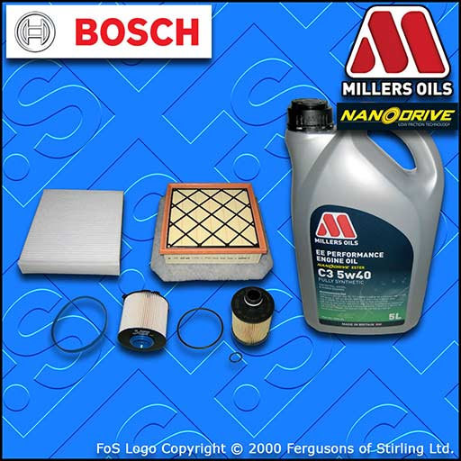 SERVICE KIT VAUXHALL MERIVA B MK2 1.3 CDTI OIL AIR FUEL CABIN FILTERS +OIL 10-12