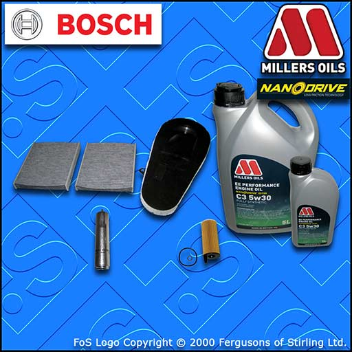 SERVICE KIT BMW 5 SERIES 518D F10 F11 N47 OIL AIR FUEL CABIN FILTER +OIL (13-14)